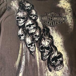 Harley-Davidson Skull Graphic T-Shirt